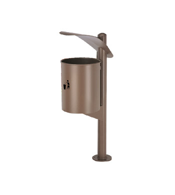 Brown Outdoor Dustbin