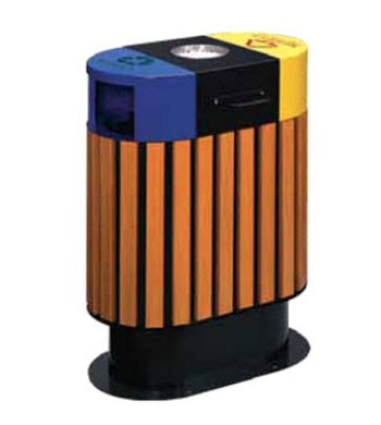 Outdoor Recycling Bin w/ Ashtray HM94252