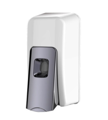 Soap Dispenser White & Chrome